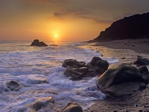 Sunset over Leo Carillo State Beach, Malibu, California by Tim Fitzharris/Minden Pictures