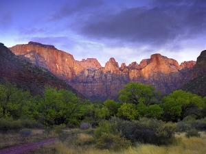 Towers of the Virgin, Zion National Park, Utah by Tim Fitzharris/Minden Pictures