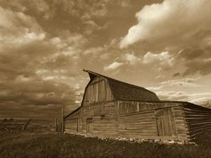 Mormon Row Barn, Grand Teton National Park, Wyoming - Sepia by Tim Fitzharris