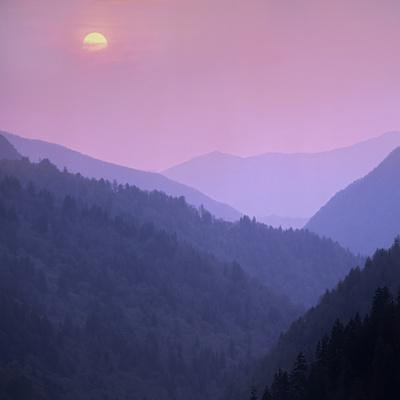 Morton Overlook, Great Smoky Mountains National Park, Tennessee, Usa