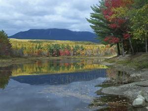 Mount Katahdin from Abel Creek in Autumn, Baxter State Park, Maine by Tim Fitzharris