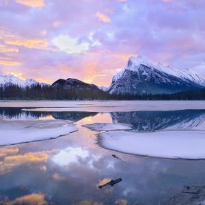 Mount Rundle at Sunset, Banff National Park, Alberta by Tim Fitzharris