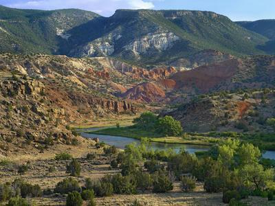 Mountainous Landscape of Rio Chama Near Abiquiu, New Mexico, Usa