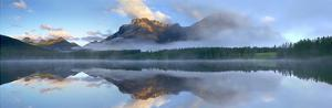 Panoramic view of Mt Kidd as seen from Wedge Pond, Alberta, Canada by Tim Fitzharris