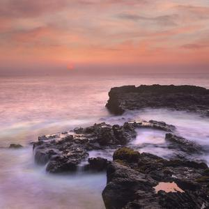 Pink Sunset, the Big Island, Hawaii, Usa by Tim Fitzharris