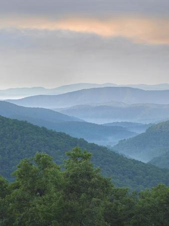 Pisgah National Forest from Blue Ridge Parkway, North Carolina, Usa