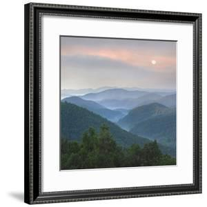 Sunrise over Pisgah National Forest from Blue Ridge Parkway, North Carolina, Usa by Tim Fitzharris