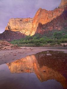 Sunset at Zion Canyon, Zion National Park, Utah by Tim Fitzharris
