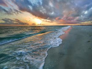Sunset over the Gulf of Mexico, Gulf Islands National Seashore, Florida by Tim Fitzharris