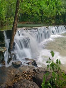 Waterfall, Lee Creek, Arkansas, USA by Tim Fitzharris