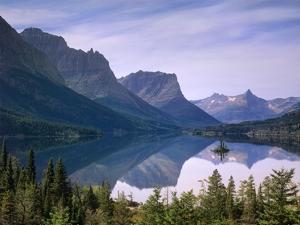 Wild Goose Island in St Mary's Lake, Glacier National Park, Montana by Tim Fitzharris