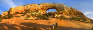 Wilson Arch with a span of 91 feet and height of 46 feet, made of entrada sandstone, Utah by Tim Fitzharris