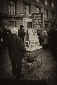 Man Advertising Christianity by Tim Kahane