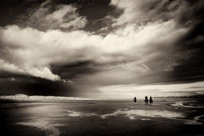 Norfolk Coastline with Horse Riders by Tim Kahane