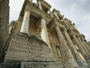 A View of the Ruins of the Library at Ephesus by Tim Laman