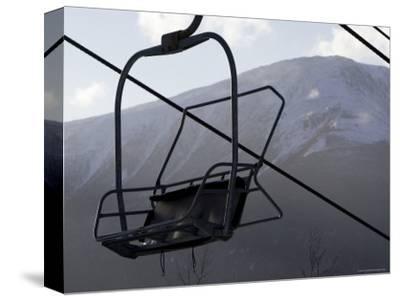 Empty Chair Lift at a Ski Resort