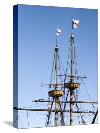Masts and Rigging of the Mayflower Ship Replica