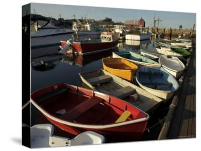 Rockport Harbor with Lobster Fishing Boats and Row Boats
