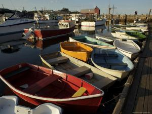 Rockport Harbor with Lobster Fishing Boats and Row Boats by Tim Laman