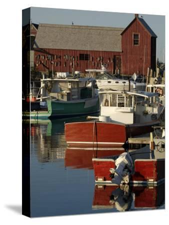 Rockport Harbor with Lobster Fishing Boats, Row Boats