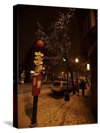 Winter Evening in Boston's North End, Italian Neighborhood