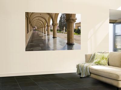 Colonnaded Marble Walkway at Joseph Stalin Museum