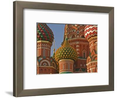 Coloured Walls and Domes of St Basils Cathedral (Pokrovsky Cathedral) in Red Square