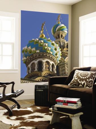 Green, Blue, and White Coloured Domes of Vladimirskaya Church