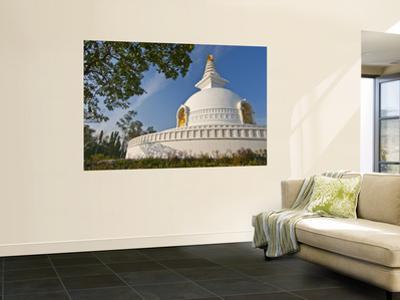 Nipponzan Myohoji Stupa, on Top of Ratnagiri Hill, with Four Golden Statues of Buddha