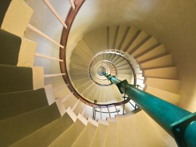 Spiral Staircase in Vizhinjam Lighthouse