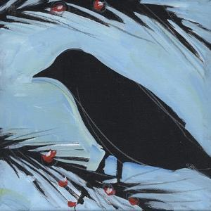 Bird And Berries 1 by Tim Nyberg