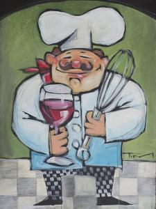 Chef with Wine and Wisk by Tim Nyberg