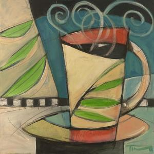 Coffee Cup with Leaves by Tim Nyberg