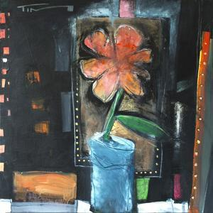 Flower in Blue Pot by Tim Nyberg