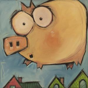 Flying Pig First Flight by Tim Nyberg