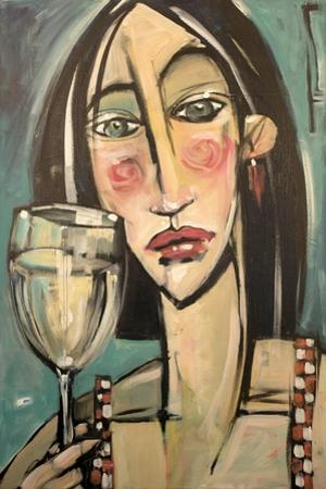 Gingham Girl with Wineglass by Tim Nyberg