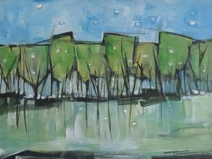 Spring Snow Wineglass Trees by Tim Nyberg