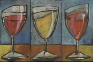 Wine Trio Triptych by Tim Nyberg
