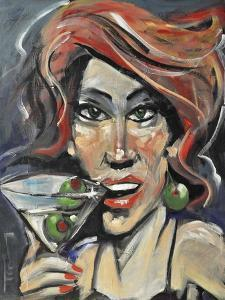 Woman with Martini by Tim Nyberg