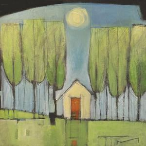 Yellow House in Woods by Tim Nyberg