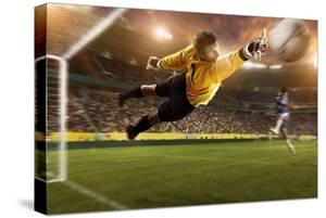 Soccer Player Trying to Score, Brazil, South America by Tim Tadder