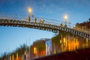 Reflections of Ha'Penny Bridge in River Liffey by Tim Thompson