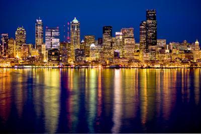 Seattle Skyline At Night by Tim Thompson