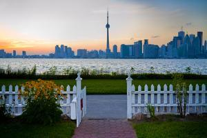 The Skyline of Toronto at Sunset from Front Yard of Home on Centre Island by Tim Thompson
