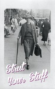 Bw Woman Walking by Tim Wright