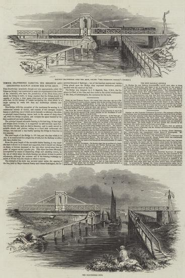 Timber Drawbridge Carrying the Brighton and Chichester Railway across the River Arun--Giclee Print