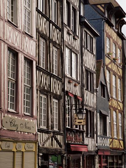 Timber-Framed Houses and Shops in the Restored City Centre, Rouen, Haute Normandie, France-Pearl Bucknall-Photographic Print
