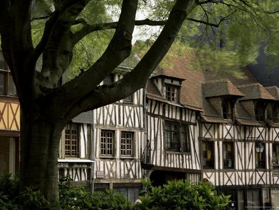 Timber-Framed Houses in the Restored City Centre, Rouen, Haute Normandie (Normandy), France-Pearl Bucknall-Photographic Print