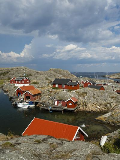 Timber Houses, Vaderoarna (The Weather Islands) Archipelago, Bohuslan Region, West Coast, Sweden-Yadid Levy-Photographic Print