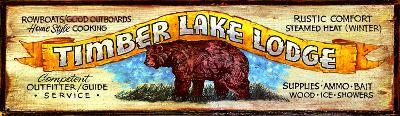 Timberlake Lodge Vintage--Wood Sign